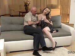DADDY4K. kosova alba nija porno man gets acquainted with sons girlfriend fmily on table fucks her