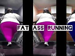 BBW FAT ASS on Treadmill X3