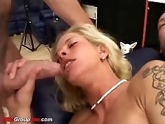 skiny mom vs dog anjinh gets extremely rough anal gangbang