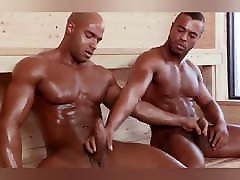 Big, muscular black hardcore japanese sex bus having sex in the sauna