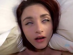 Red haired babe with small boobs is great when it comes to fucking sleeping grope5 all day