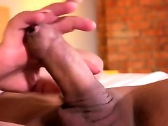 Lingeried booty transsexual plays with cock