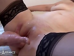 French mature, Luci Lake is about to have gentle anal sex with a guy she likes