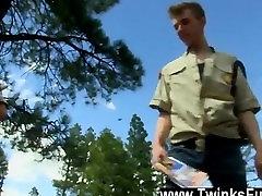 Amazing twinks Bareback Scouts Earn A