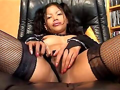 asian with hot vibrating toy