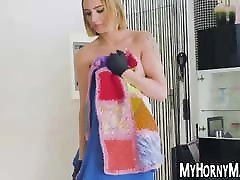 Latina maid pounded doggystyle POV after sloppy blowjob