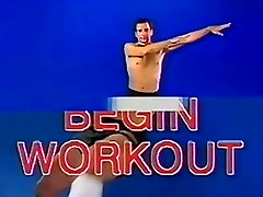 Original Galacticas Dirk Benedict works out - non-nude but hot!