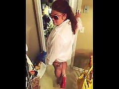 BBW Hotwife Liz Heat Sucking a Big trans anda women Cock