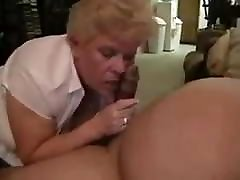 Grandma&039;s Neighbor Laughs When He Cums In Her Mouth