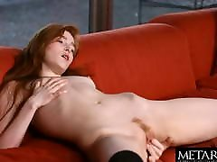 Redhead plunges her fingers into her tight sex video jaldi dikhao pussy