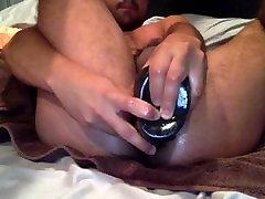 Fun with black dildo