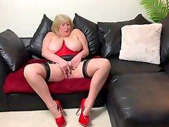 Mature men eating scat Tit Whore in Red Stripper Heels Finger Fuck