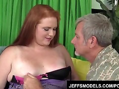 Young redheaded BBW Scarlett Raven is fucked good