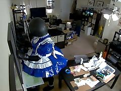 analy cream Frilly Maid Stumbles Around Apartment in Ballhood