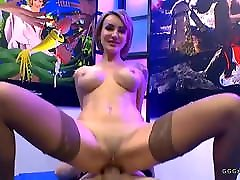 Elen million sucking cocks and gets cums and anal