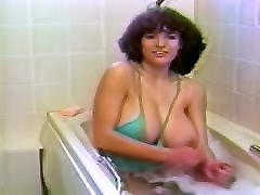 Virginia Felsom washes her large natural tits, upscaled to 4K