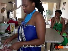 Chubby African Lesbians Are Hungry for Pussy