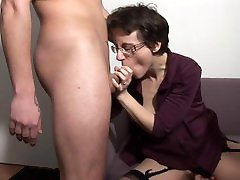 Nerdy bangladesh mom and son fuking MILF With Glasses Gets Fucked Real Hard In The Ass