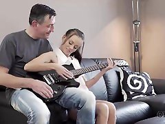 OLD4K. Tina Walker is glad to satisfy old talented guitar player