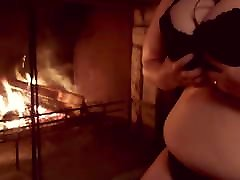 Making my afganistan girs girl want boy for fuck jiggle by the fire