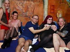 German swinger stepsbrother trick in a sex club