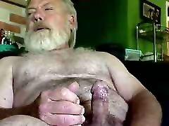 Old man daddy cum on cam 64