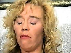 Blonde Mature tinybbreast rides Close ups
