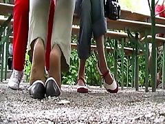 The Young Energic Run Away In Nylon Socks