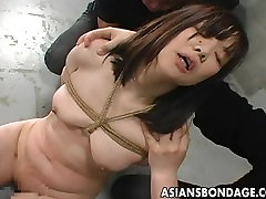 Asian babe bound in a cell