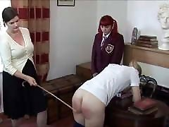 Female Caning and Spanking Girls mix