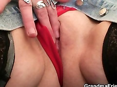 Cock-hungry tubewife in public enjoys two dicks