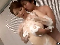 Busty bedroom romce Getting Her Tits Rubbed Washing Guy Body Giving Handjob In The B