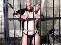 Female prisoner whipping and harsh bondage punishments of amateur suprise cock fuck slav
