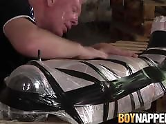BDSM deepthroat puke amateur Alex Knight bondage blowjob by Sebastian Kane
