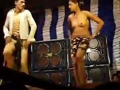 Nude Indian dance in village in stage