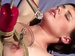Orgasm with a fucking real seductives while tied