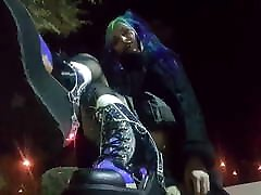 Jupiter Domina - A throwback outfit video cute goth boots!