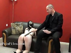 Riding crop spanking of sexually dominated Fae in bruising whipping