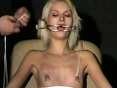 Extreme needle torture and hardcore bdsm of blonde slavegirl in severe