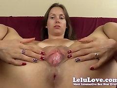 Lelu 사랑 자식 Puckering Pussy 퍼지는 클로즈업