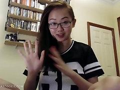Busy crazy teen deep throat fuck Harriet Sugarcookie vlog