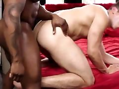 White boy gets pounded by black muscle stud