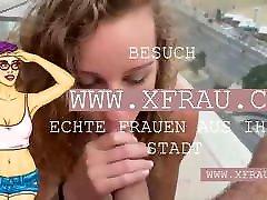 Sex auf dem Balkon mit dieser sexy Deutsche Schlampe