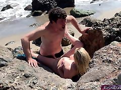 Voluptuous blonde sunny leone new lessbain video nude on beach fucks passerby
