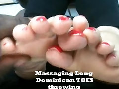 Massaging long toes