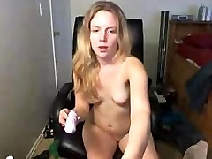 Sexy Amateur Blonde Dildoing Ass & Pussy