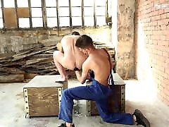 Hot blond slave gets bareback fucked and fisted by gulshan afridi dom