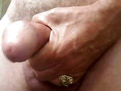 older man wanking