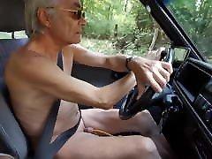 naked car drive