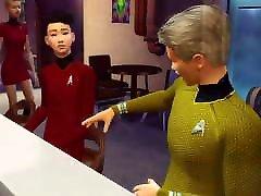 Star Treck strop on lesbians Parody Cartoon Starfleet Excursion